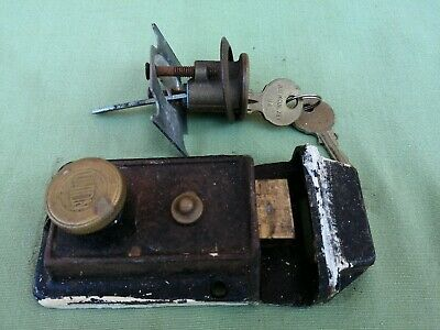 Vintage Union Door Lock / Keep And Keys Fully Complete