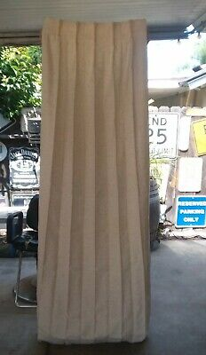 Pair Vintage Mid Century Pinch Pleat Drapes, Curtains - JC Penney, 38 X 84 Cream