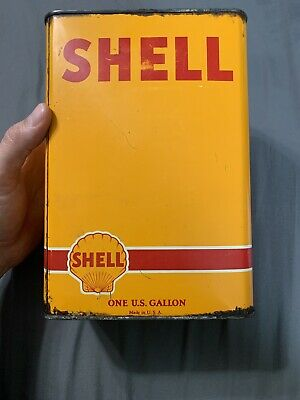 Vintage Early Rare Shell Motor Oil One Gallon Oil Can