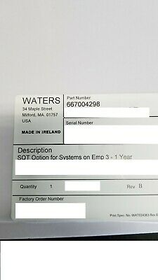 NEW!! Waters SQT Option for System on Empower  p/n: 667004298