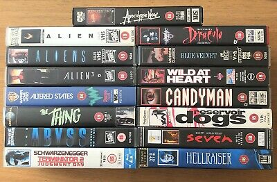 15 x Classic Sci-Fi / Horror / Action VHS tapes. David Lynch / Clive Barker