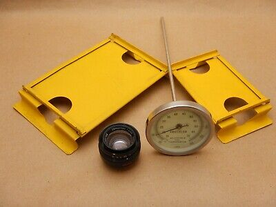 Lot of 4 Darkroom Items 2 speed easels 1 thermometer and Schneider 50mm f/4 Comp