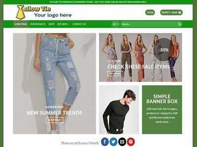 Professional Ecommerce Website Shop / Store ~ Web Design ~ Free Domain / Hosting