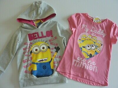 MINIONS Little Girls Hoodie and Top Age 4-5 Years NEW WITH TAGS