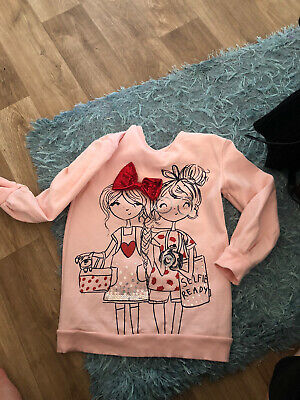 Girls Pink Jumper Age 6-7 Years George