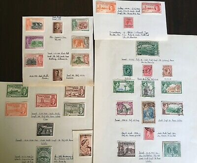 32 Assorted Pre-1952 Caribbean Stamps - Jamaica, Dominica, St Kitts, Turks