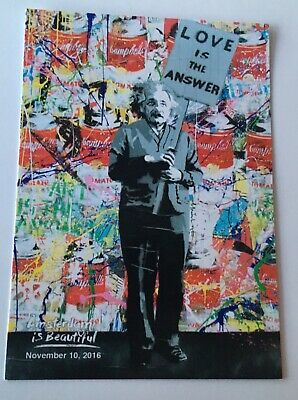 Mr Brainwash Promotional Card - 'Love is the Answer' (Banksy/Einstein/Warhol)