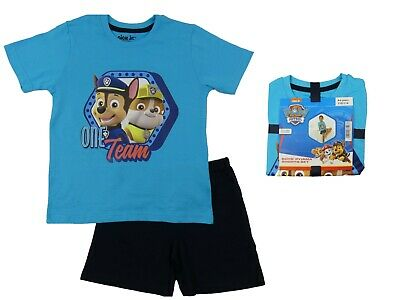 Boys Paw Patrol Shortie Shorts and T Short Summer Pyjamas 12 Months to 6 Years