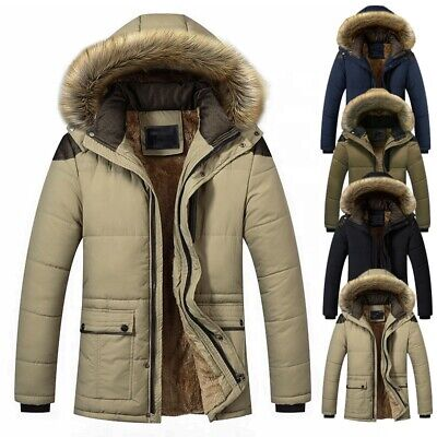 2020 High Quality Mens Winter Thicken Cotton Plus Size Jacket Warm Puffer Hooded