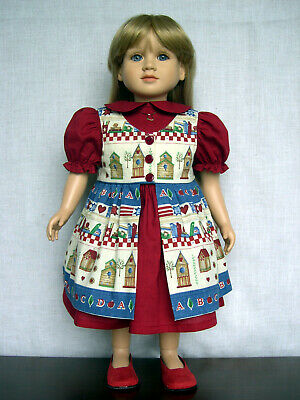 """Handmade 23 inch Doll Dress and Shoes - Clothes Outfit Made to Fit 23"""" Dolls"""