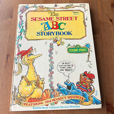 Vintage SESAME STREET ABC StoryBook Hardcover HC Jim Henson's Muppets Kids Book