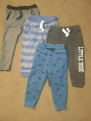 4 Boys joggers bundle tracksuit bottoms 18-24 months H&M grey striped used