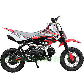 NEW Coolster 110 CC Kids Youth Dirt Bike Motorcycle Red Blue Green Black Colors