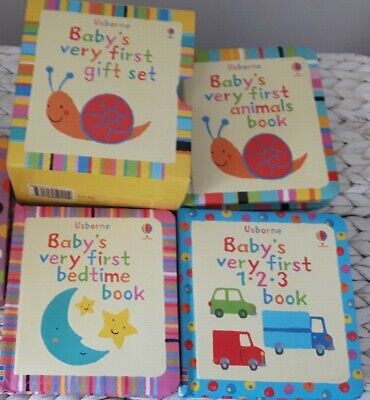 Usborne Books - Baby's very first '123, bedtime & animals' gift set (good cond.)