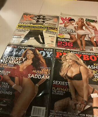 Rare Set of 2 Playboy/WWE WWE/WWF DIVA Magazine Issues Lot Collection 2003/06-07
