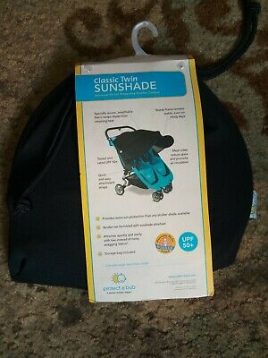 Protect A Bub Classic Twin Sunshade Universal Fit Protective Stroller Canopy