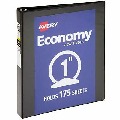 """Avery 1 Inch Economy View 3 Ring Binder Round Ring Holds 8.5"""" x 11"""" Paper 1 B..."""