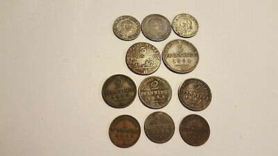 German States Prussia Coins 1837 - 1869
