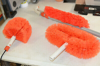 OXO Good Grips 3-In-1 Extendable Microfiber Dusting System, Orange (Used)