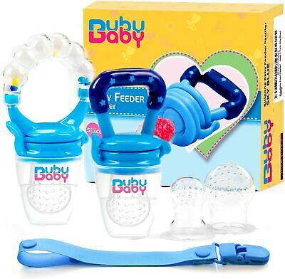 2 PK Baby Fresh Food, Fruit Feeder Silicone Pacifier Teething Toy Free Fast Ship