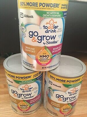 3 cans similac go grow toddler 12-36 Months