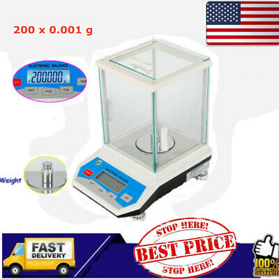 Digital Electronic Precision Scale Lab Analytical Balance 0.001g to 200g