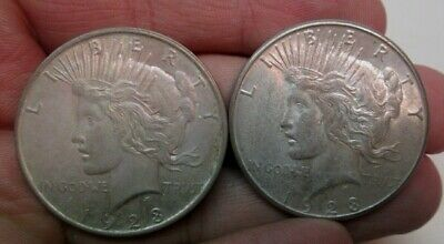 1923-P & 1923-S Peace Silver Dollars Uncirculated Condition No Reserve
