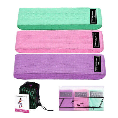 Resistance Bands Non Slip Loop Band 3 Pieces Set for Exercise Legs and Glutes