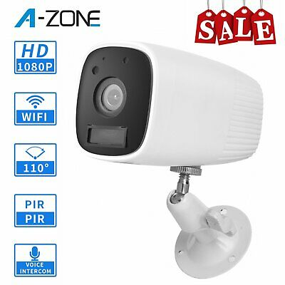 A-ZONE 1080P Outdoor Wireless Wifi IP Camera CCTV Home Security Battery Powered