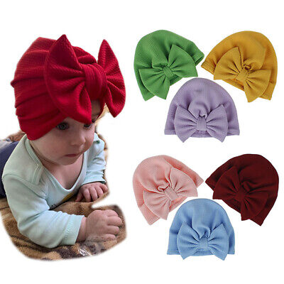 Baby Toddler Bunny Rabbit Bow Knot Turban Girls Kids Headband Hair Band Headwrap