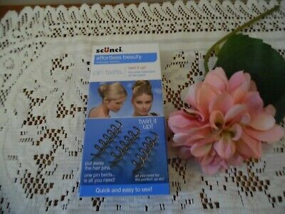 Scunci Pin Twirls firm hold metal pins for all hair types