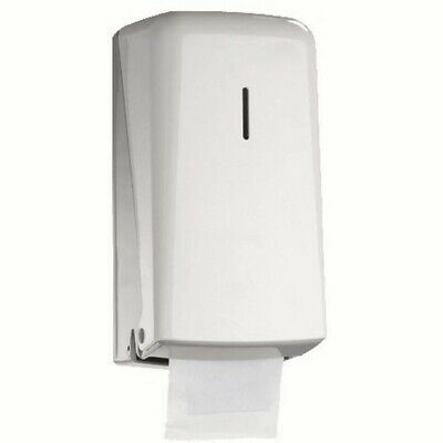 Twin Stacking Toilet Roll Holder Dispenser White Wall Mounted Hygiene J8T