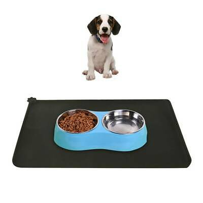 Cat Dog Puppy Pet Silicone Waterproof Feeding Food Mat  Non Slip Bowl Placemat.