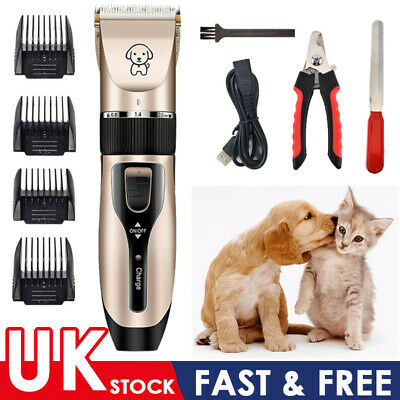 USB Electric Cordless Pet Dog&Cat Grooming Clipper Hair Trimmer Shaver Kit Set