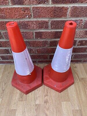 Reflective Road Traffic Cones X2 Used