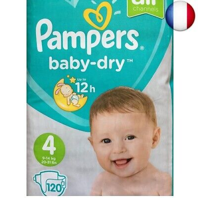 Pampers Baby Dry Lot de 120couches Taille 4 4 9-14kg/  (4 (9-14kg/ 20-31lbs))