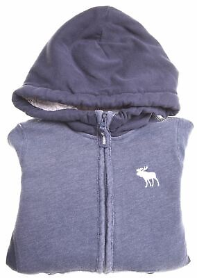 ABERCROMBIE & FITCH Girls Hoodie Sweater 5-6 Years Blue Cotton  JL14