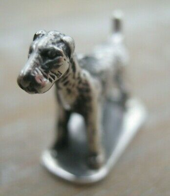 Fabulous Sterling Silver Miniature Study of A Lakeland Terrier Dog