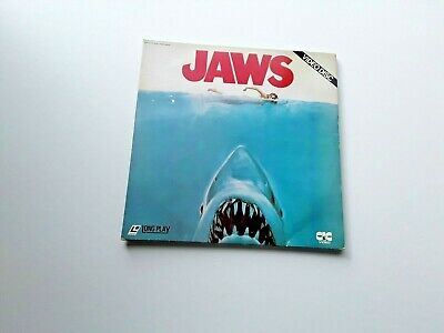 "JAWS VIDEO DISC (1975? CIC LVH1001) 124 minute DOUBLE VIDEO DISC in 12"" Gatefold"