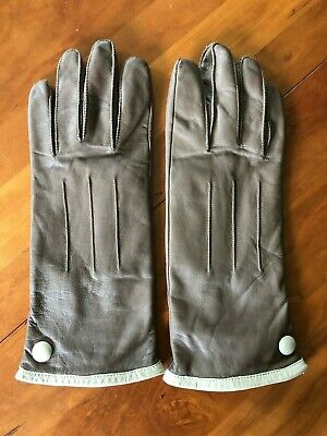 Vintage WORTHINGTON Light Brown Leather Gloves Size XL