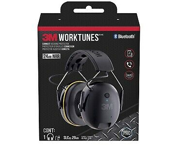 3M Ear Protection Muff Plug Headphone WorkTune Connect Hearing Bluetooth Noise