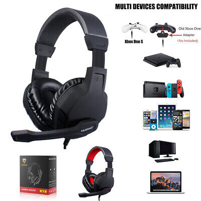 3.5mm Gaming Headset with Mic Volume Control LED Headphones for PC PS4 Xbox One