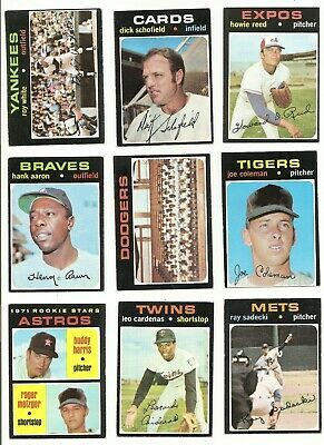 1971 Topps Series 4 * You Pick * (394-523) Conditions Listed