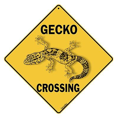 Gecko Crossing Sign NEW 12X12 Metal Lizard Reptile