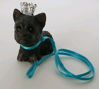 Barbie Birthstone Beauties Dec  Miss Turquoise Pet Terrier Puppy Dog Blue Leash