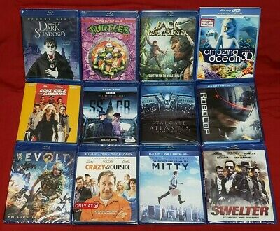 LOT OF 12 - Blu Ray Movies - BRAND NEW SEALED !! Lot #2