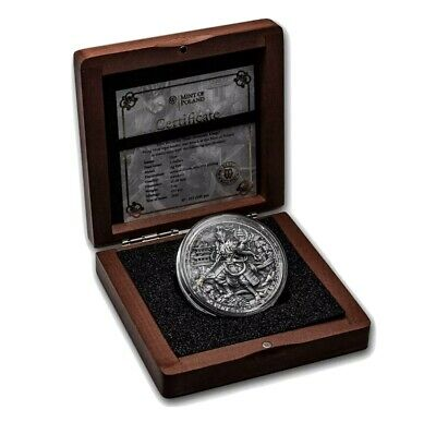 2020 Niue 2 oz Antique Silver Four Heavenly Kings: Duowentian *First coin* EBUX