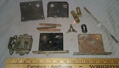 Antique Metal Ornate Cabinet Door Handle Locks Lot