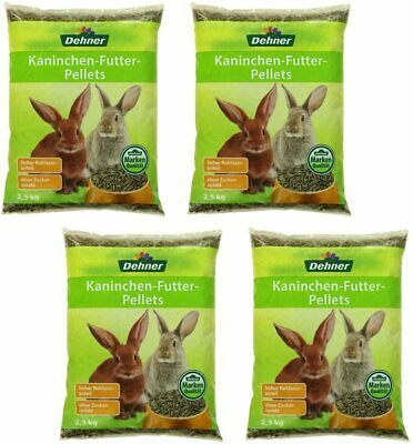 Dehner Rabbit Food Pellets 4 x 2.5 kg (10 kg)
