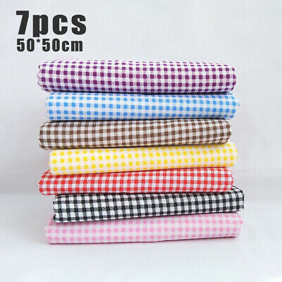 7PC Mixed Cotton Fabric Material Sewing Value Bundle Scraps Offcuts Quilting TOP